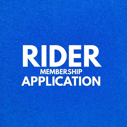 Rider Membership Application