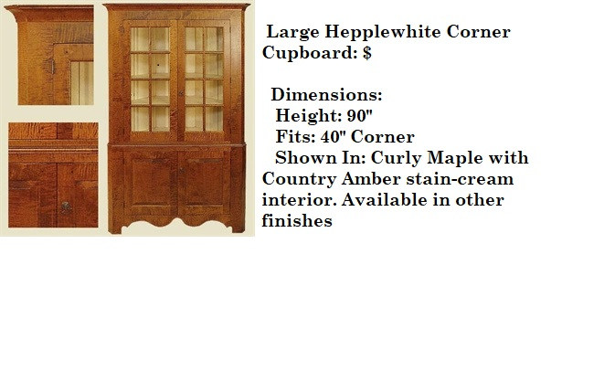 Large Hepplewhite Corner Cupboard