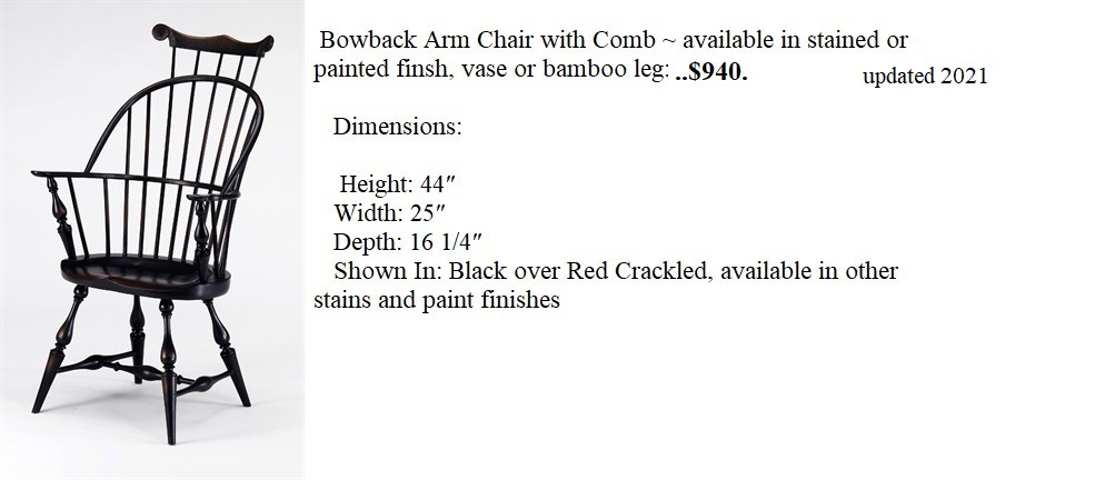Bow Back Arm Chair with comb