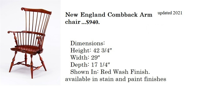 New England Comback arm chair.