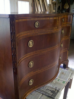 Antique furniture re-finishing