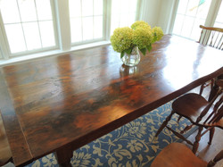 Reclaimed Pine top table #5A