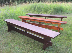 Solid Oak and Tiger Maple Benches