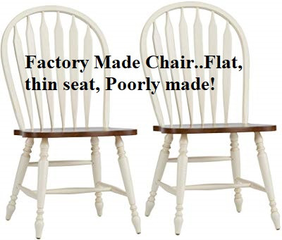 flat seat Windsor Style chairs..factory