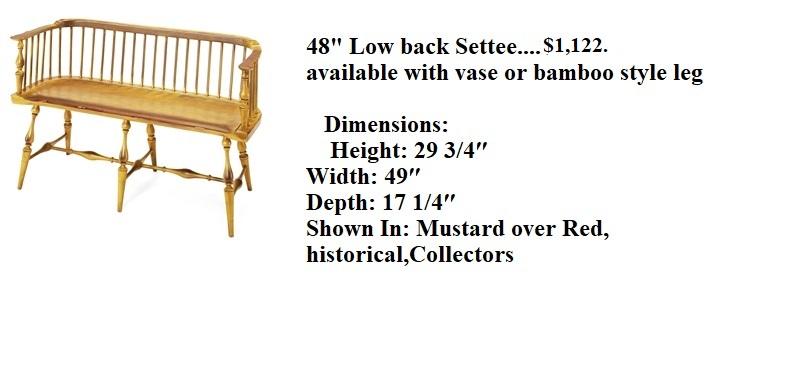 48 lowback settee