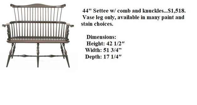 44 settee with comb and knuckles
