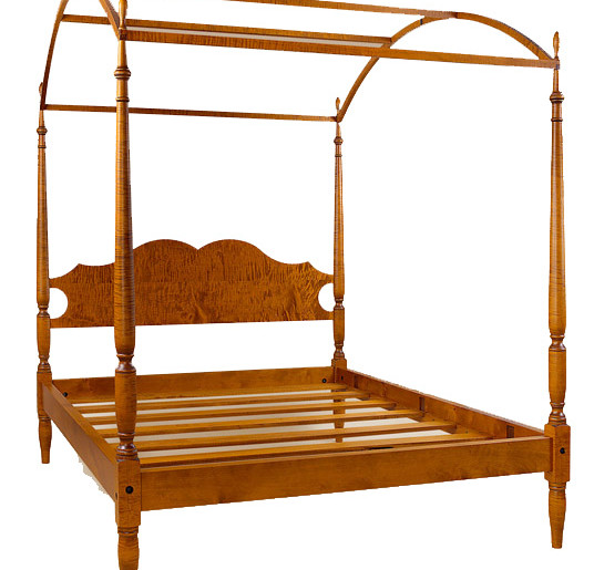 Sheraton bed with arched canopy