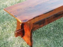 Trestle style bench