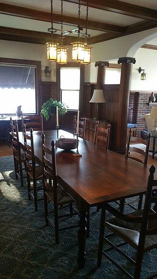 Reclaimed wood top farmhouse tables