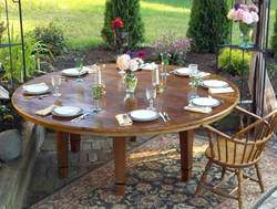 Custom 7ft. round dining table