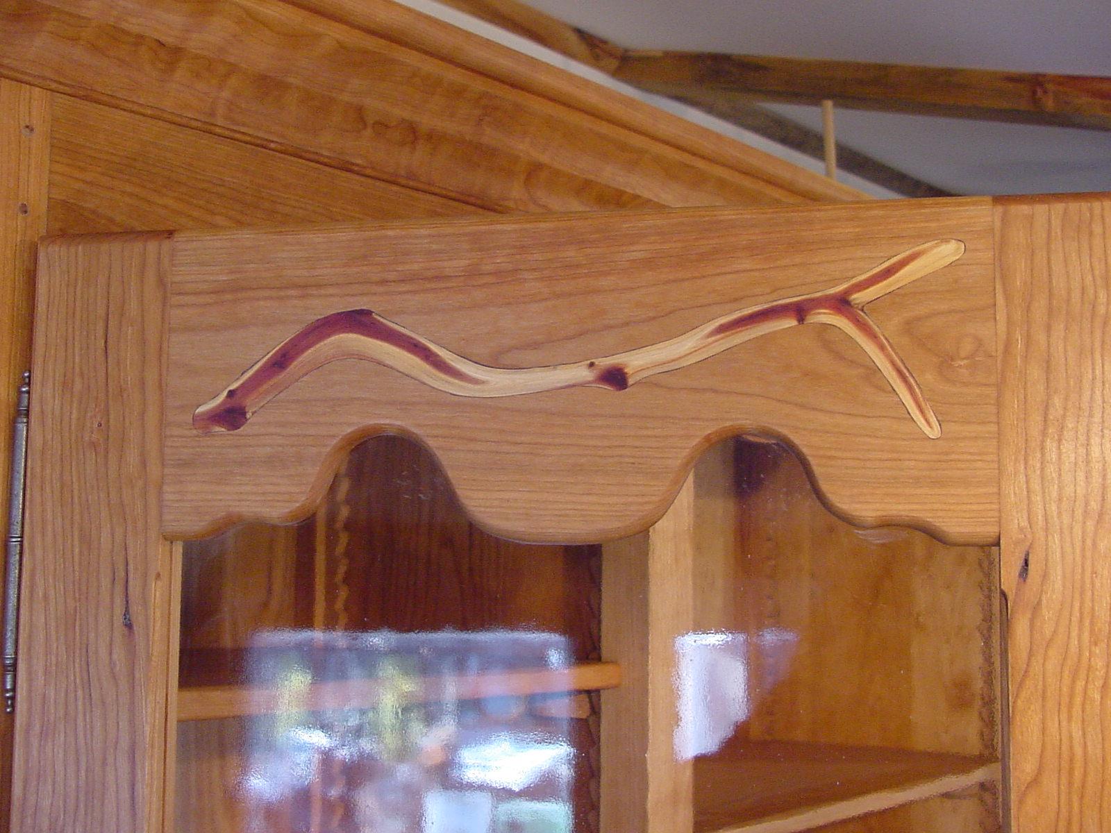 Eastern Red Cedar stick inlay