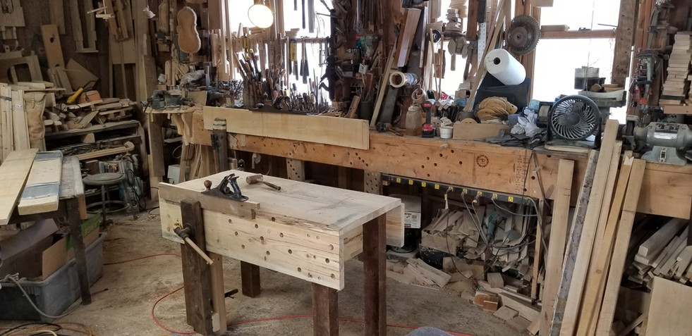 Small workbench alongside full size work