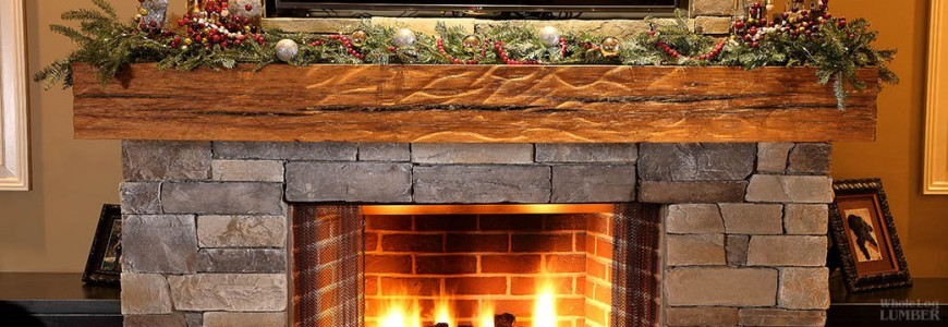 Hand Hewn fireplace mantles