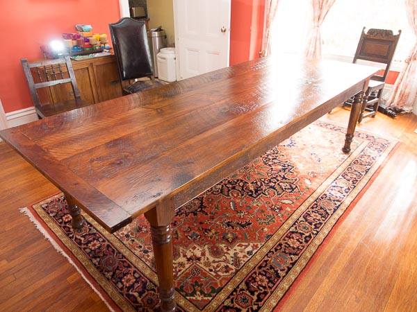 Rustic Pine farm table # 2B