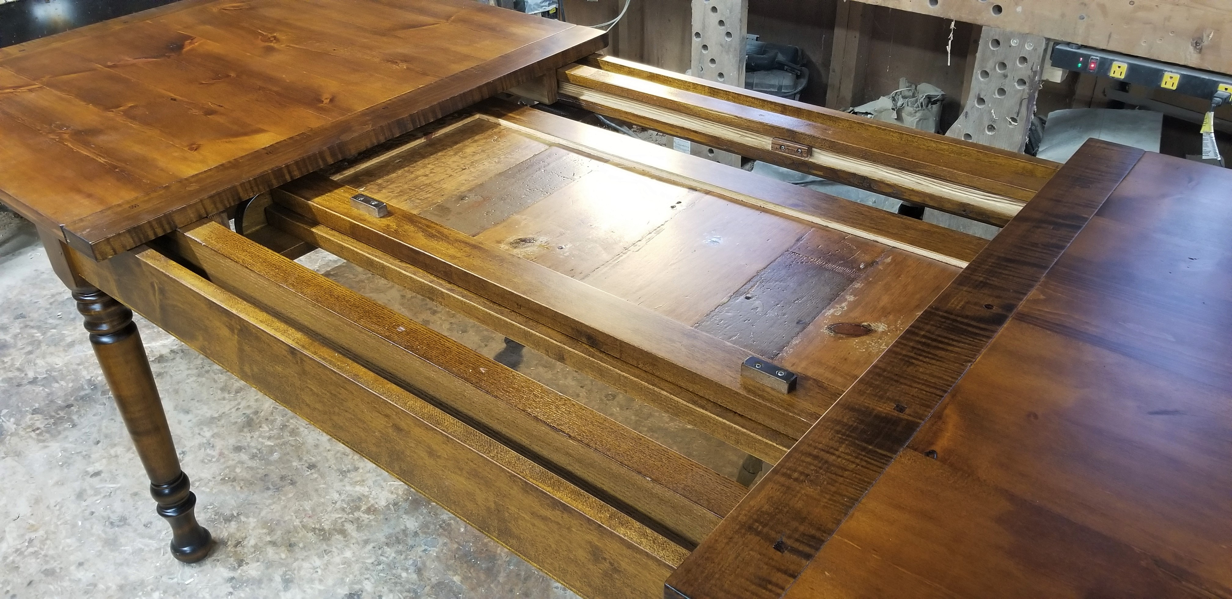 6' center-leaf extension table