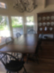 Reclaimed Pine top Regal French Colonial Trestle table