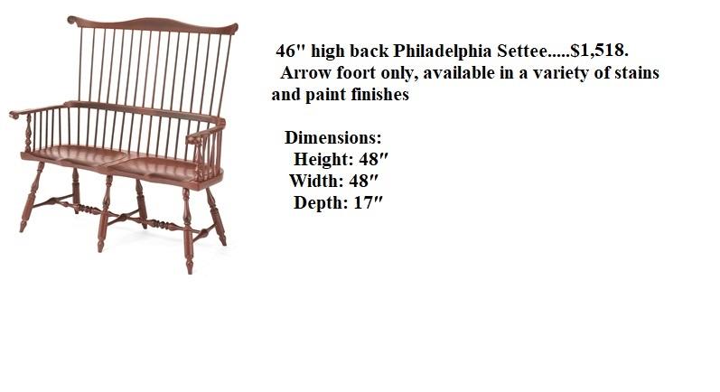 46 High Back Philadelphia Comb Back