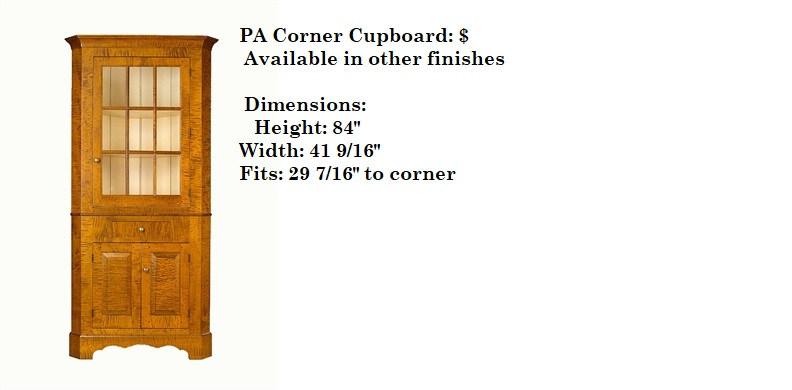 PA Corner Cupboard