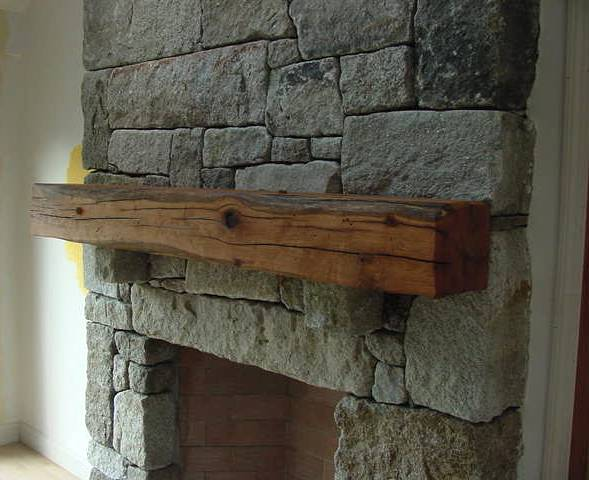 Oak mantle by New England Joinery