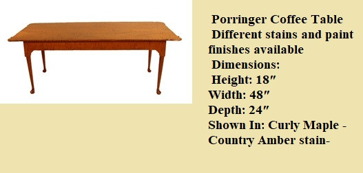 porringer coffee table