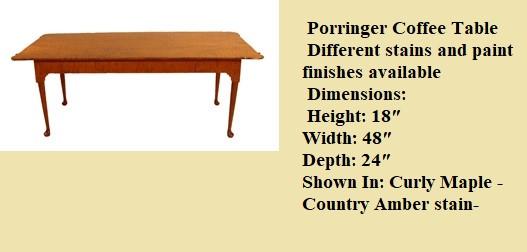 porringer coffee table