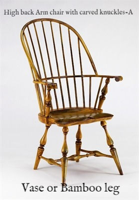 Highback Arm chair with carved knuckles-A