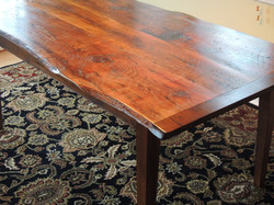 Reclaimed Pine top table #3A