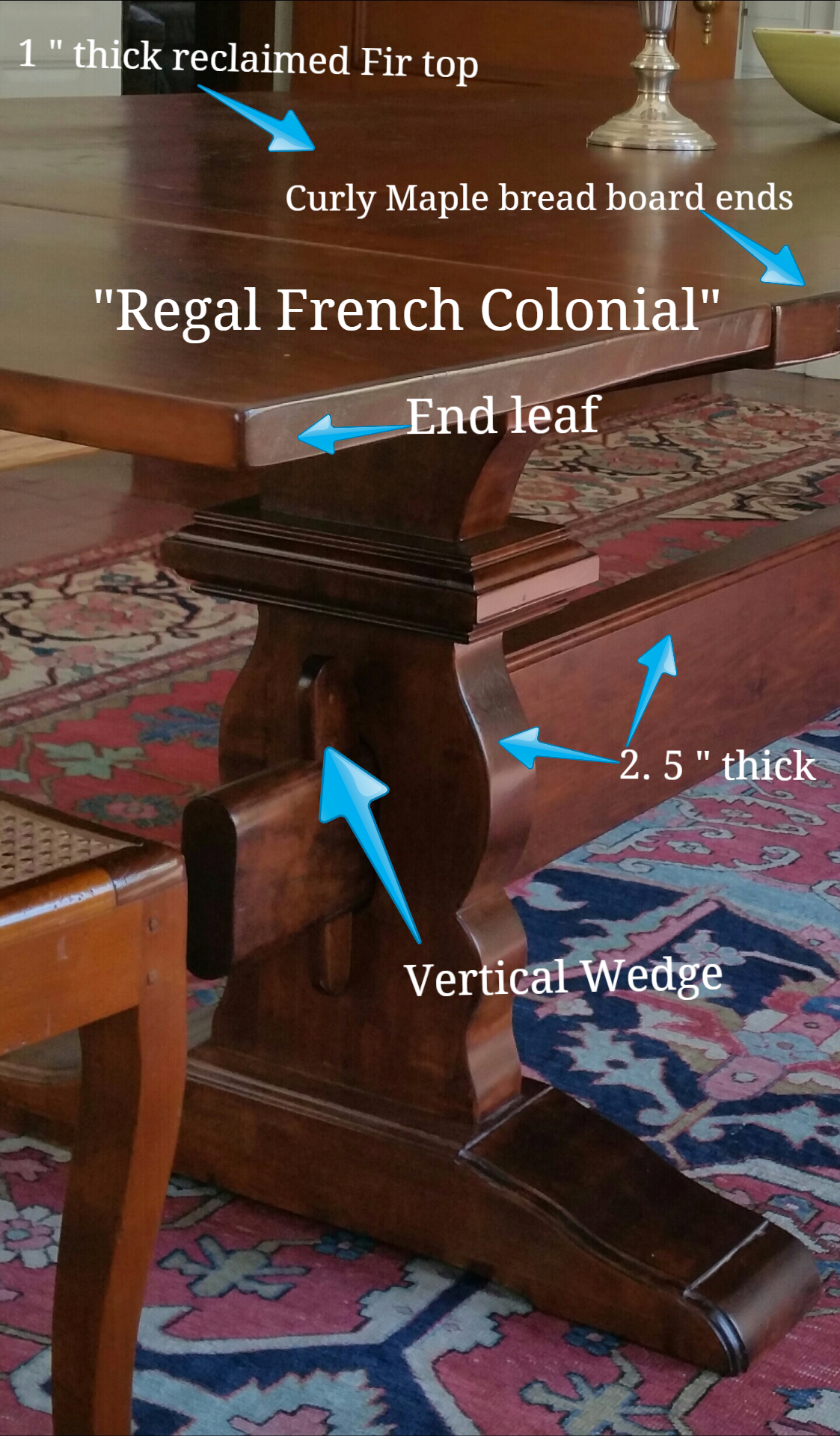 """Regal French Colonial leg"