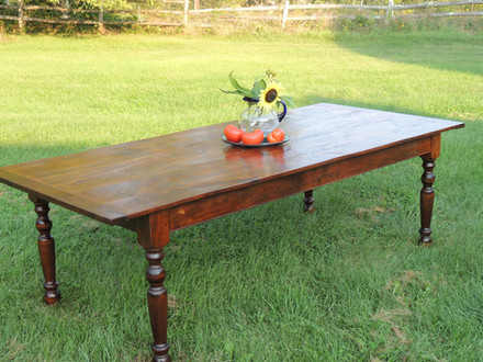 Reclaimed Wood top Farm Tables