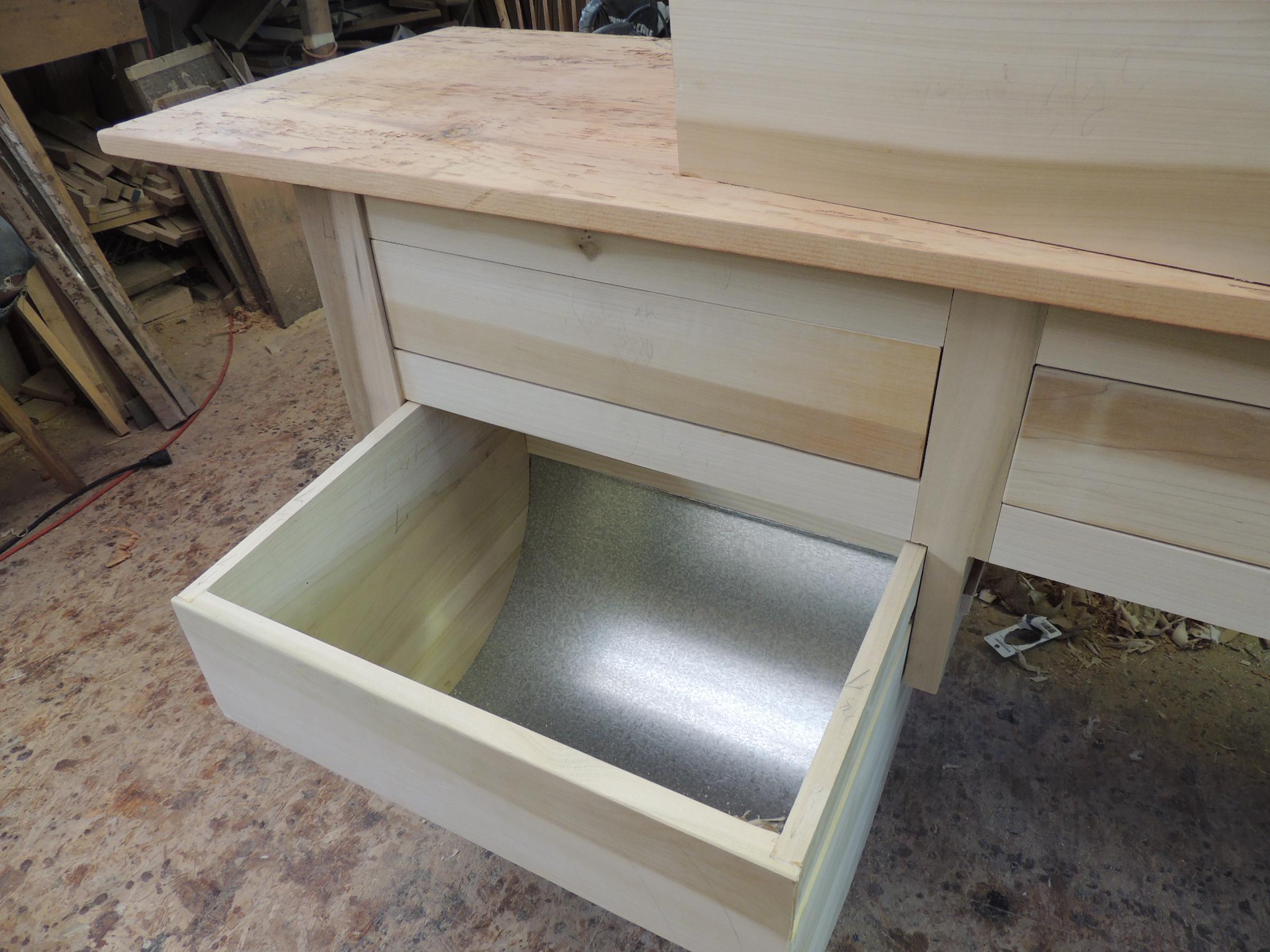 galvanized steel bottom drawers