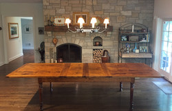 Solid Maple Center-leaf extension table