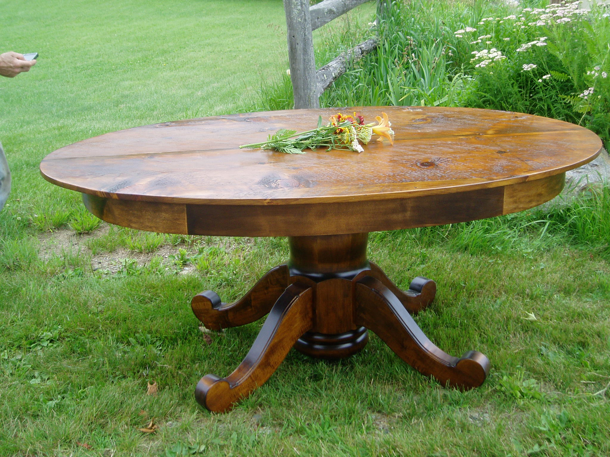 ellipse table #5A (rustic Pine)
