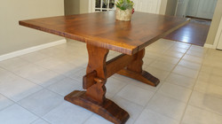 5ft trestle table with reclaimed Pine to