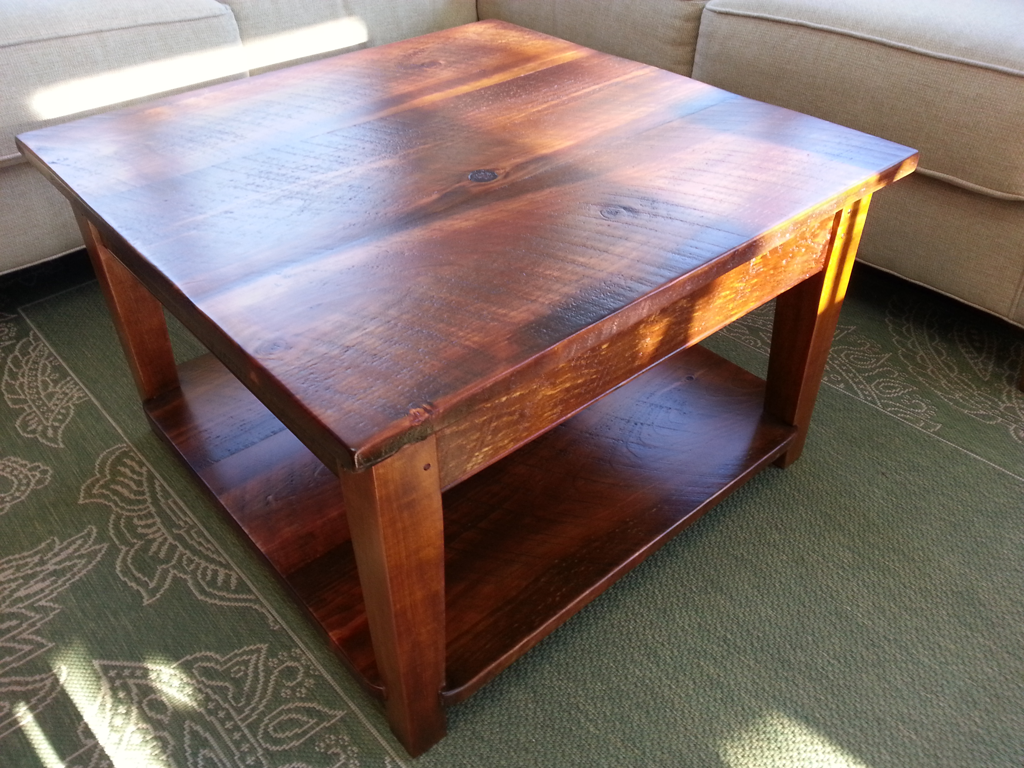 Rustic Pine coffee table #4 (rustic