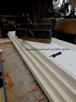 Hand planed beaded edge