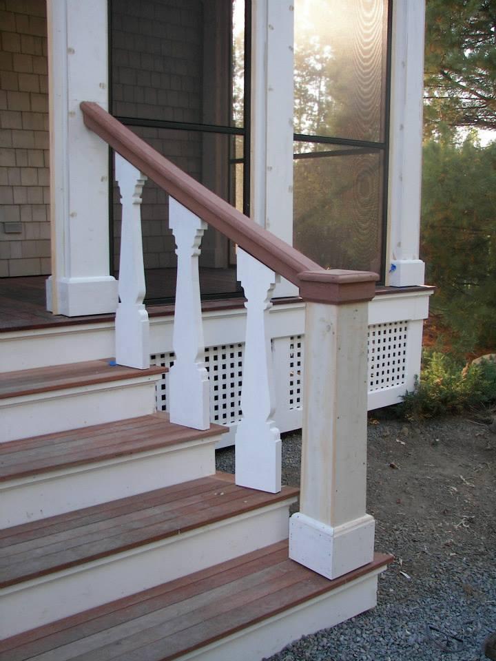 Custom Mahogany stairs exterior