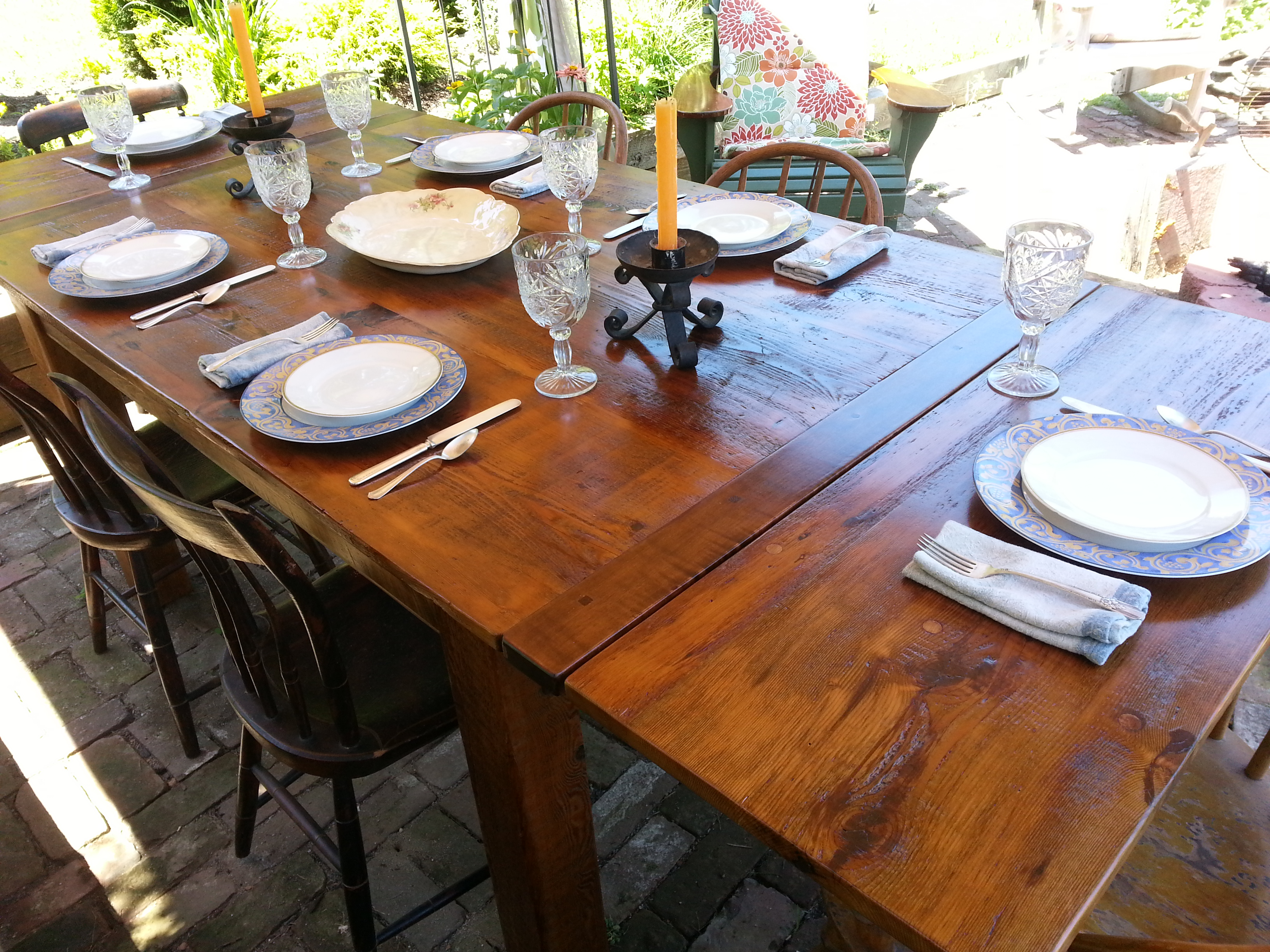 Reclaimed Fir farm table #4A