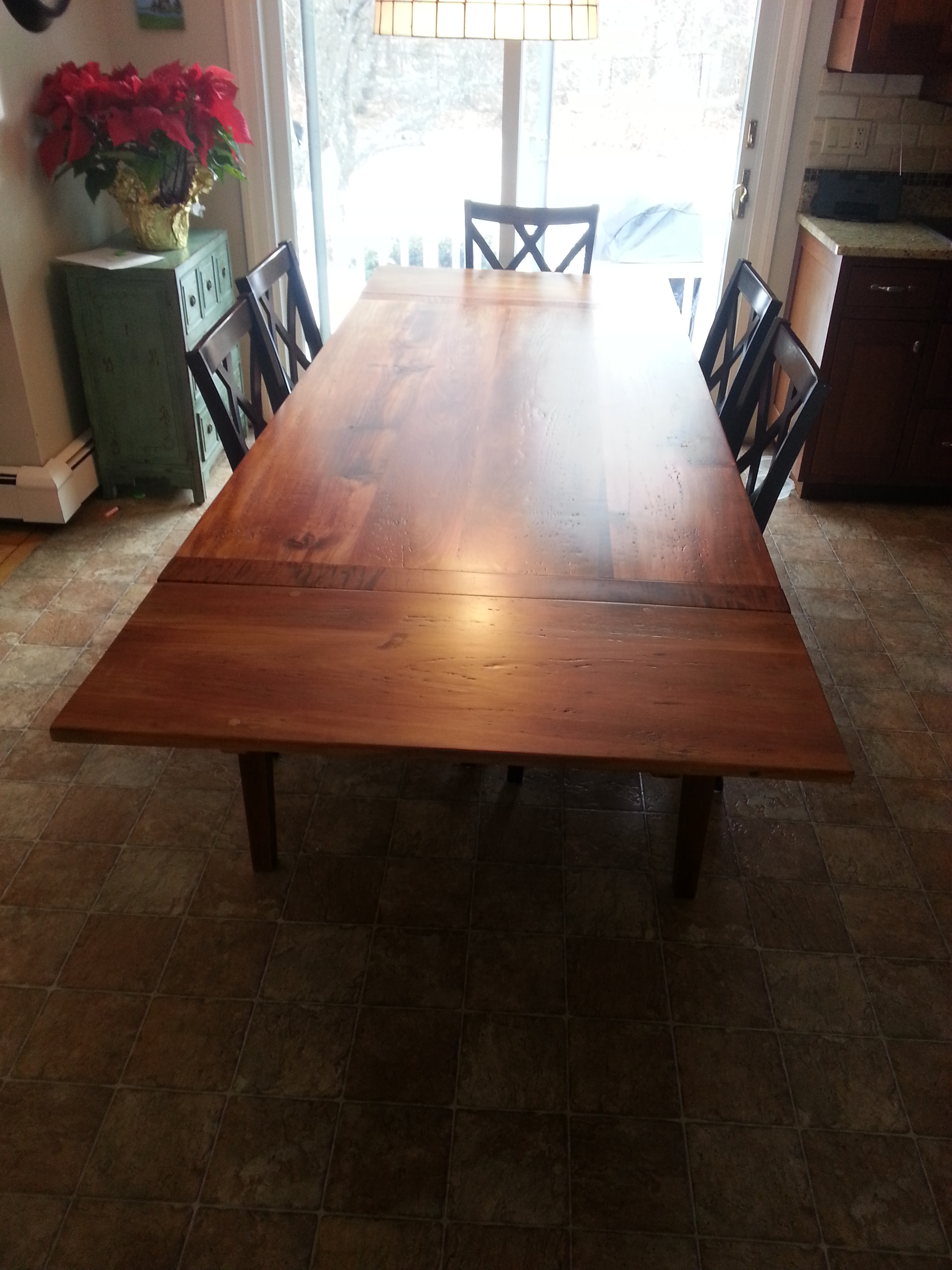 Reclaimed Pine top table #11A