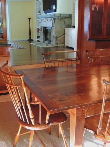 Reclaimed Pine top Farm Tables