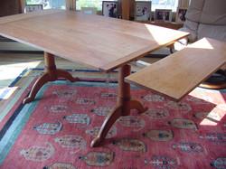 Shaker Pedestal trestle table