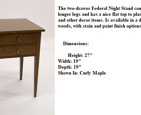 two-drawer Federal Night Stand