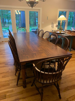 Bowback Arm chair with table
