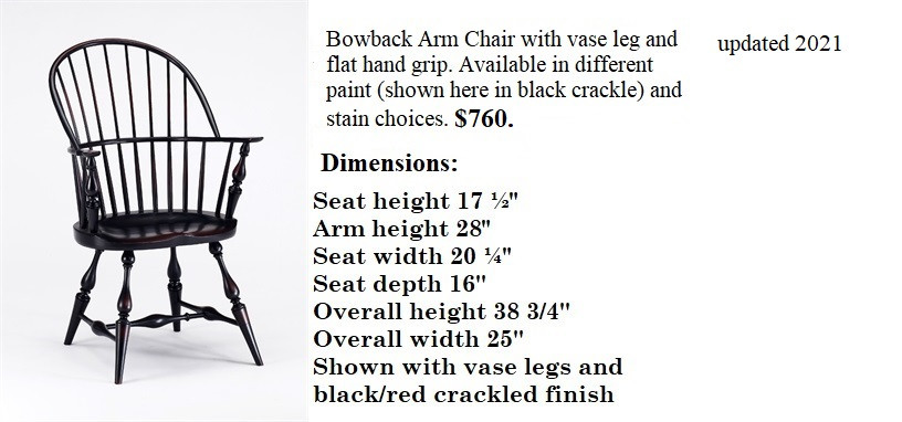 Bow Back Arm Chair with flat grip