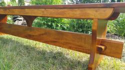 """82""""rustic Pine top bench"""