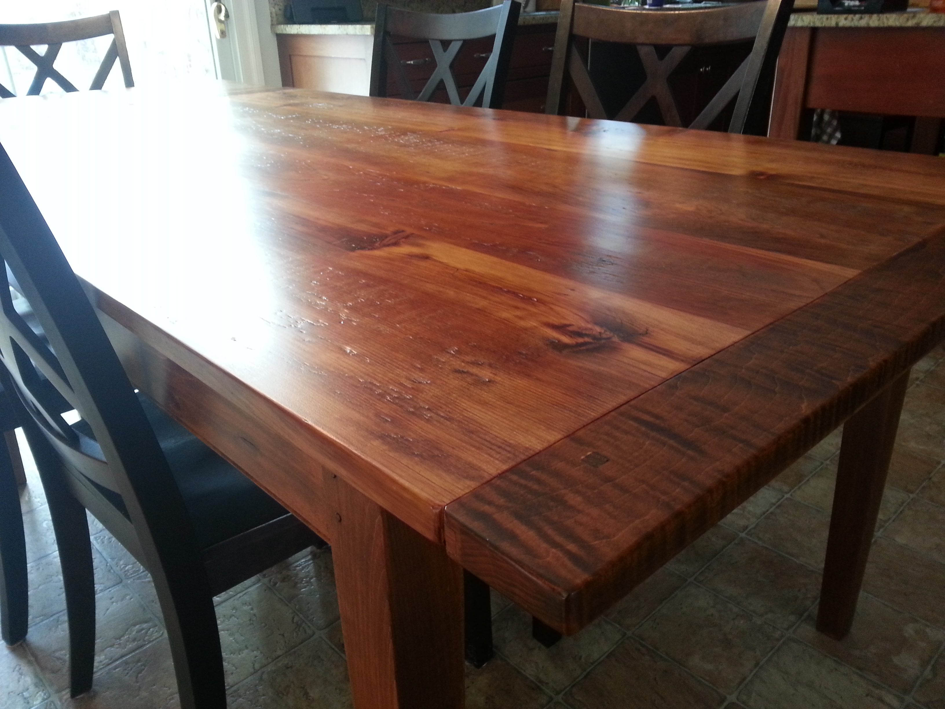 Reclaimed Pine top table #11B