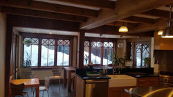 Beautiful beams in kitchen
