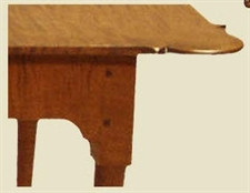 porringer coffee table edge