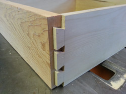 Hand cut dove tailed drawers