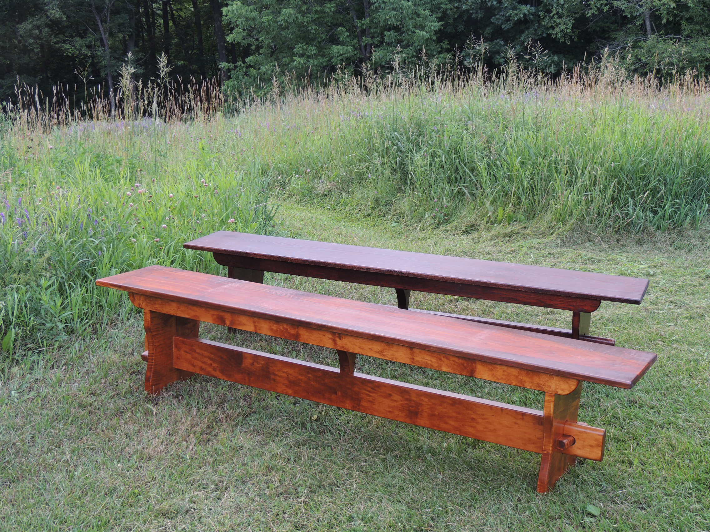 Trestle style benches