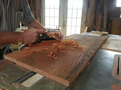 Hand planing reclaimed wood